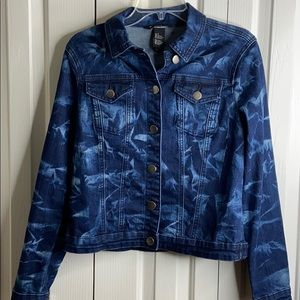 Baccini size S  Jean jacket with front pockets EUC